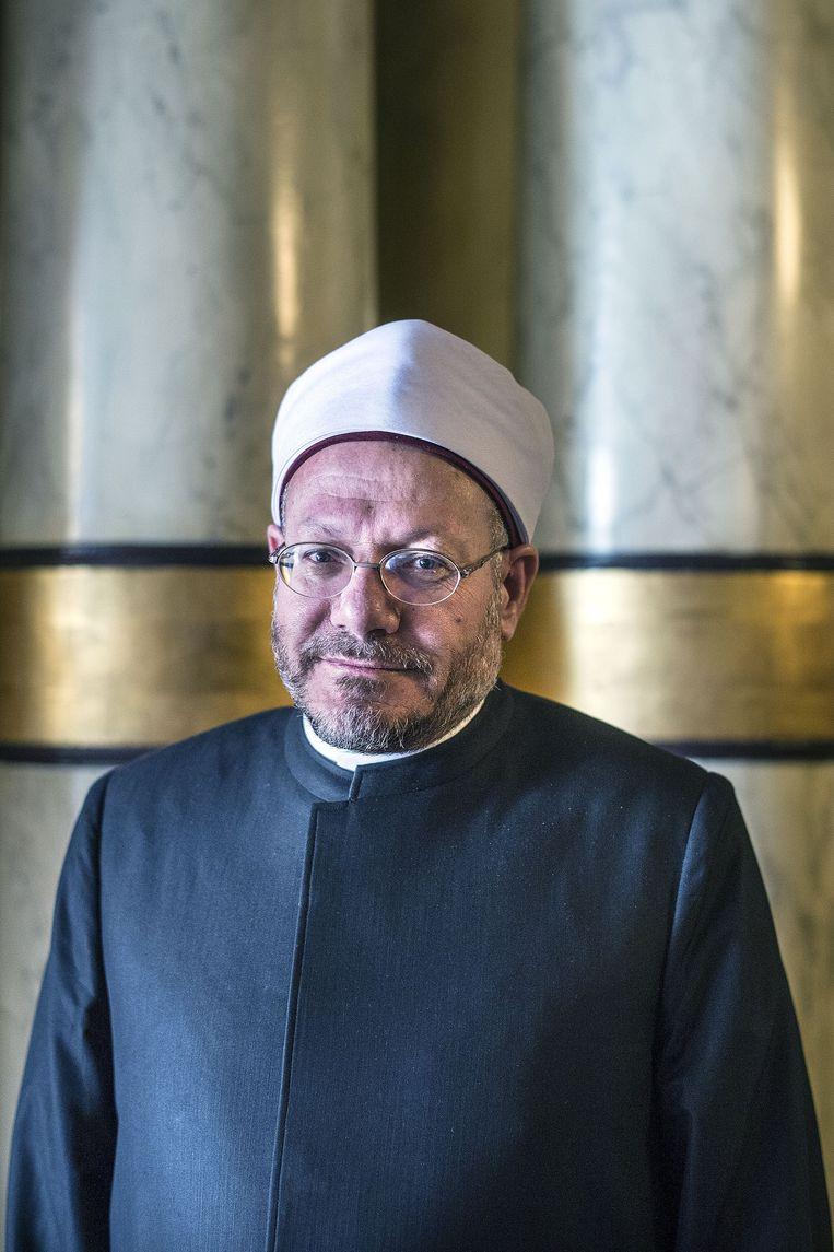 Grootmoefti Sheikh Shawki Ibrahim Abdel-Karim Allam. Beeld Guus Dubbelman / de Volkskrant