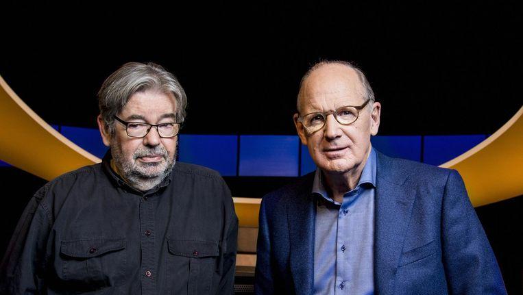 Presentator Philip Freriks en sidekick Maarten van Rossem Beeld KRO-NCRV