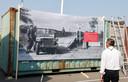 De container van het Gdynia-museum in Axel is al voorzien van de grote historische foto