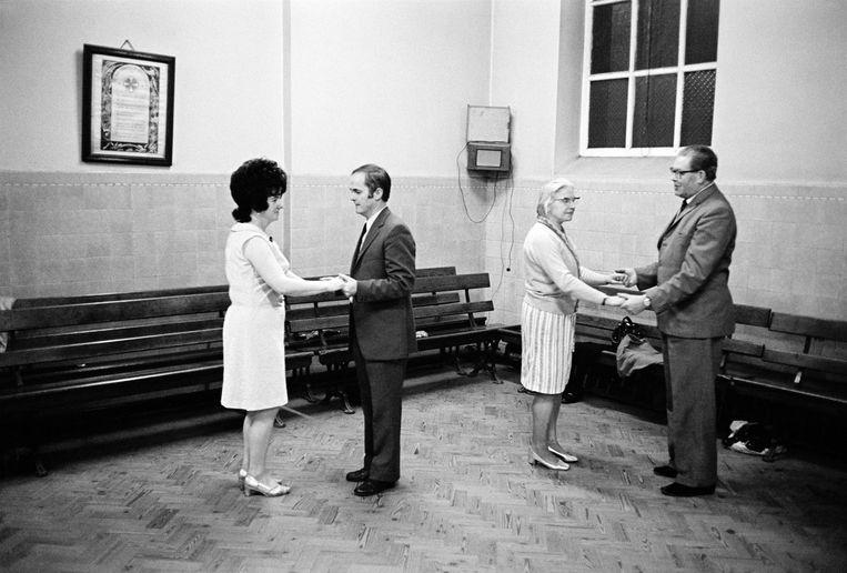 Dansen in Longsight, 1973. Beeld ©Martin Parr / Magnum Photos