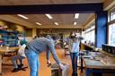 Voor praktijkvakken mogen leerlingen van Praktijkschool Helmond wel naar school komen.