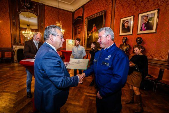 Brugge uitreiking medailles Carnegie Hero Fund