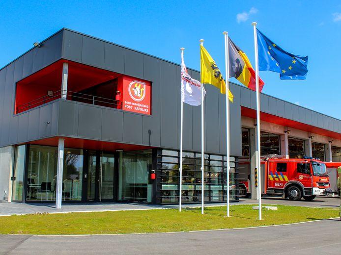 Het nieuwe moderne gebouw van de brandweer.