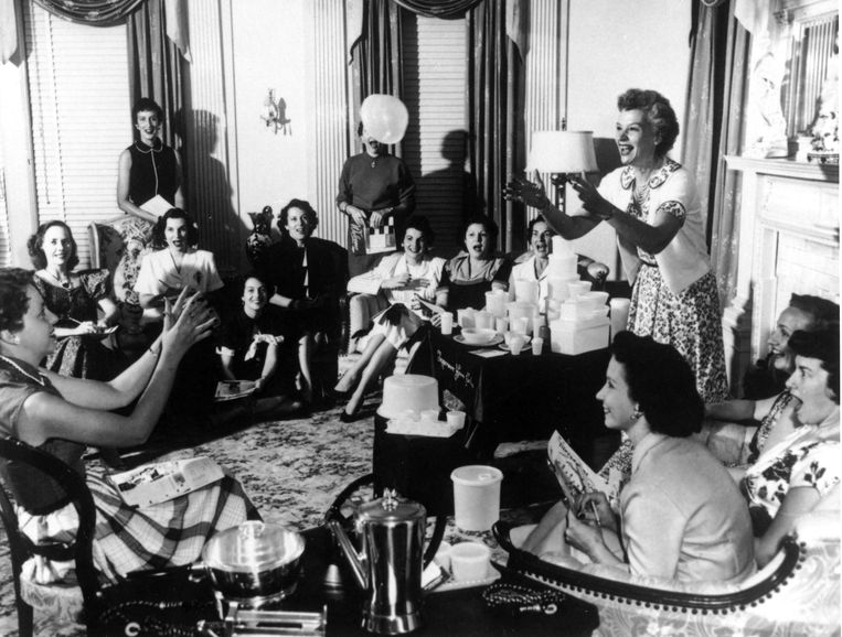 Tupperware party in America in the 1950s.  TCS image