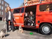 Hotdogkar is nu even een hondenuitlaatservice