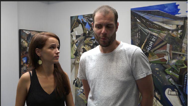 Lynn Van Royen en Gilles Van Schuylenbergh in hun kunstgalerij