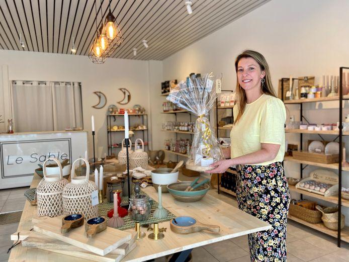 Kirsten Campers in haar gloednieuw winkeltje, dat vrijdag voor het eerst de deuren opent