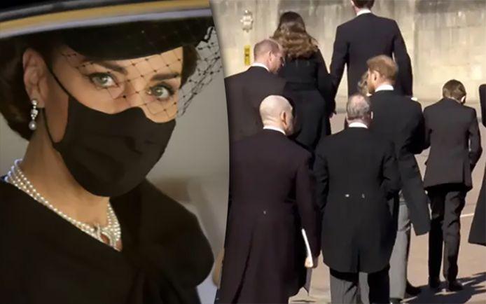 Hoe de prinsen Harry en William zij aan zij wegliepen na de begrafenis van hun grootvader prins Philip: in geen 24 uur werd het een iconisch beeld waar de wereld niet over uitgepraat raakt.