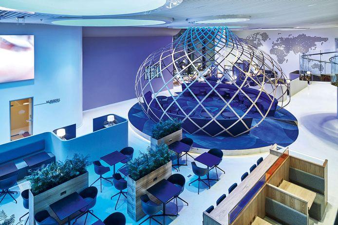 Interieurachitect M+R uit Eindhoven heeft de German Design Award 2020 gewonnen voor het ontwerp van de lounge van het Sheremetyevo-vliegveld in Moskou.