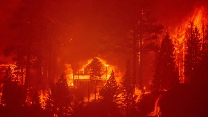 Bosbrand bedreigt populaire toeristenplaats in noorden van Californië, duizenden mensen op de vlucht voor de vlammen