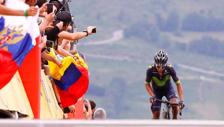 Nario Quintana heeft zijn lesje geleerd en focust volgend jaar opnieuw louter op de Tour. Beeld TDW