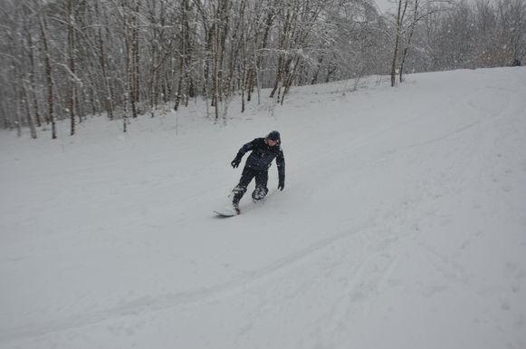Twee jaar geleden werd er zelfs gesnowboard op de Mont Henri in Park ter Beuken.