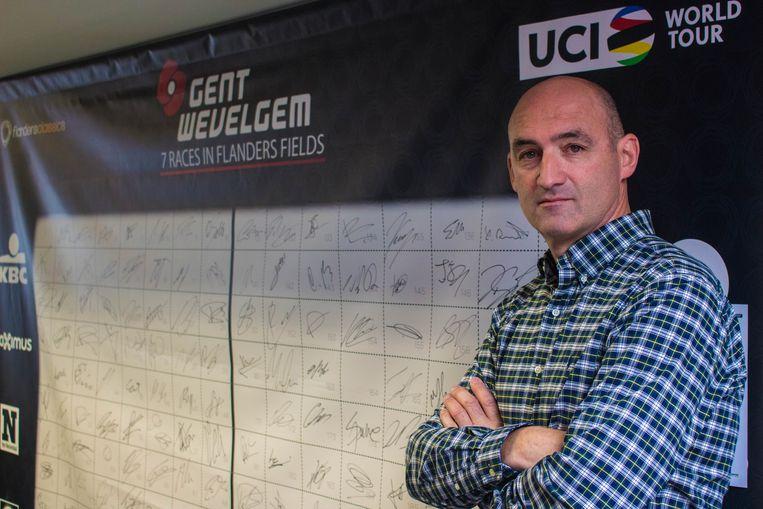Hans De Clercq (48) bouwt al een dikke tien jaar aan het parcours en de veiligheid van Gent-Wevelgem. Beeld Michiel Martin