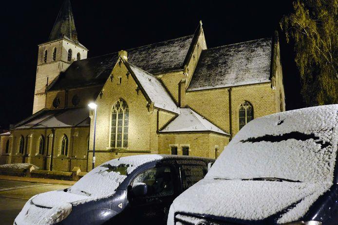 Een laagje verse sneeuw in Leuven.