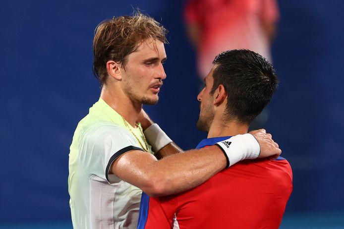 Alexander Zverev et Novak Djokovic