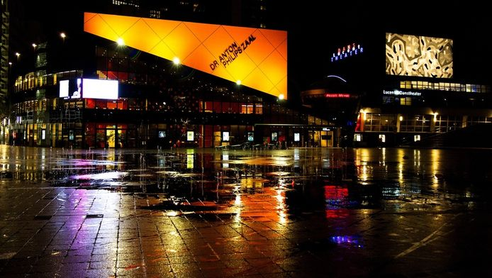 Het Spuiplein met het Lucent Danstheater en Dr. Anton Philipszaal, de plek waar tussen nu en 2018 een groot cultuurpaleis zou komen