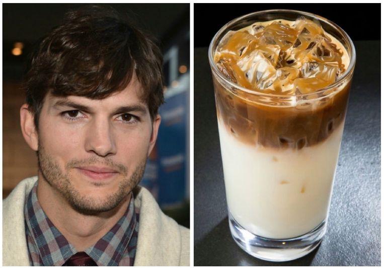 Ashton Kutcher houdt van iced caramel macchiato's.