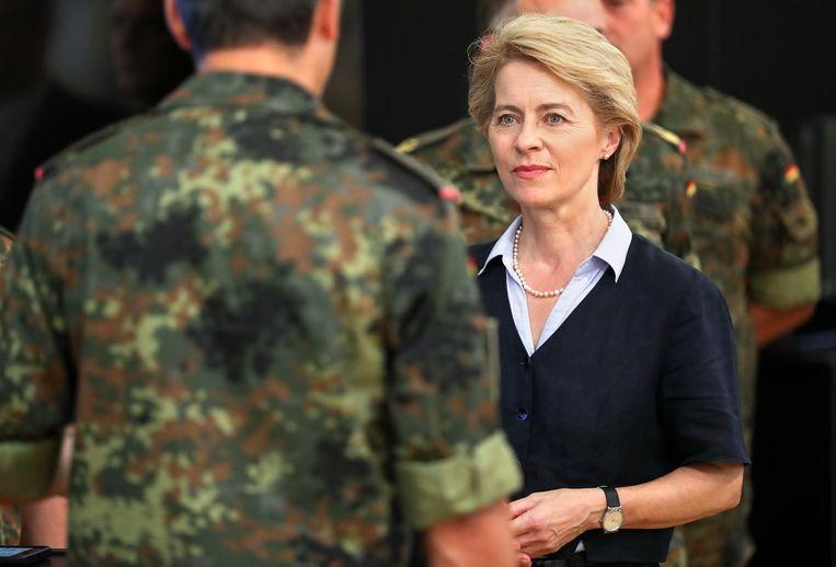 Duits minister van Defensie Ursula von der Leyen. Beeld Jan Woitas/dpa-Zentralbild/dpa