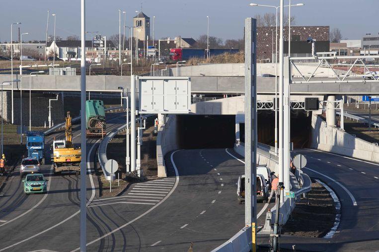 De A2-tunnel bij Maastricht, vlak voor de opening in 2016.  Beeld ANP