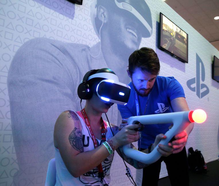 De Electronic Entertainment Expo in LA is hét moment waarop videogamebedrijven hun nieuwigheden voorstellen aan het publiek. Beeld EPA
