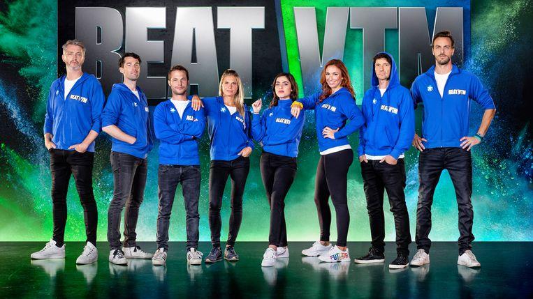 De VTM-gezichten achter het programma 'Beat VTM'. Beeld VTM