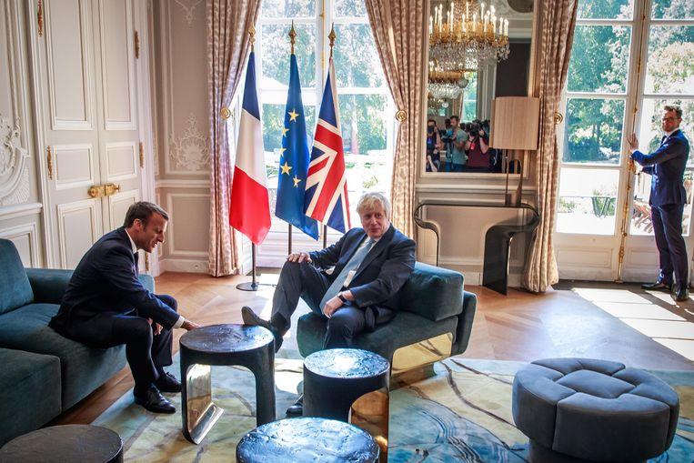 Johnson en Macron spraken elkaar in het Elysée over de brexit.