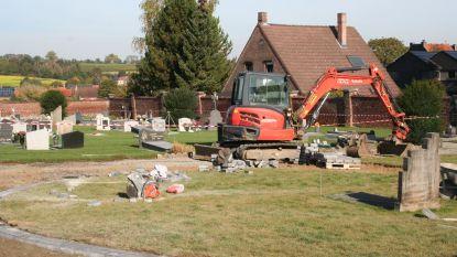 Vergroening begraafplaats op schema