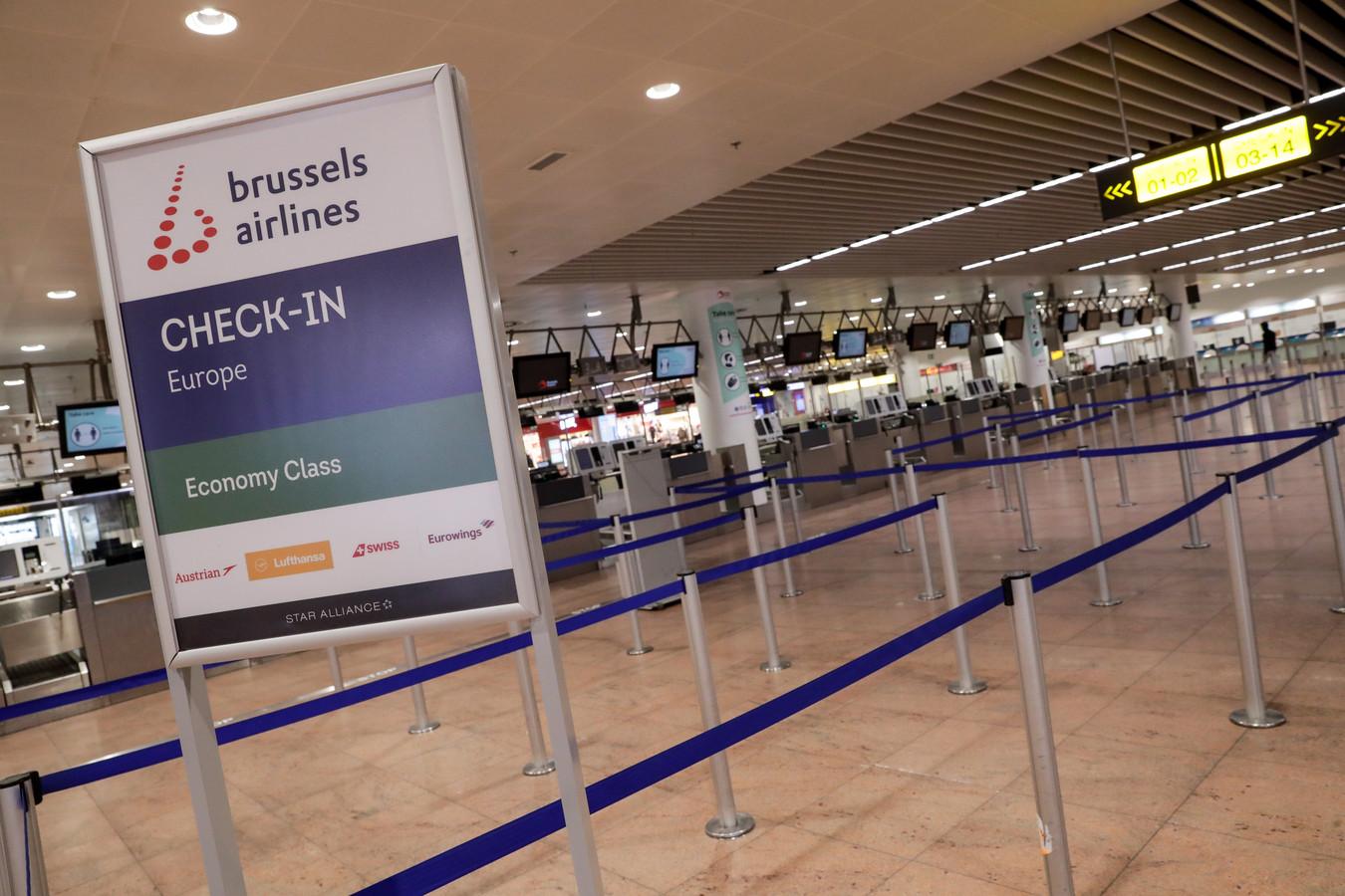 L'aéroport de Zaventem, ce mercredi 27 janvier 2021.