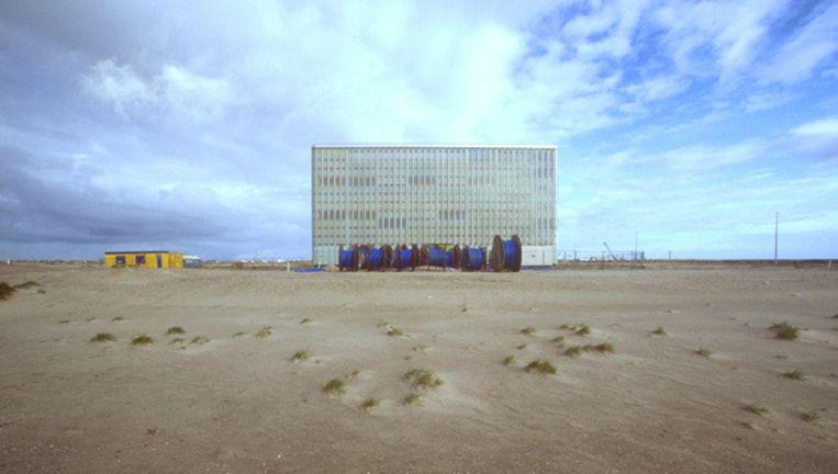 Telefooncentrale IJburg in de beginfase van IJburg. Foto © Johannes Abeling Beeld