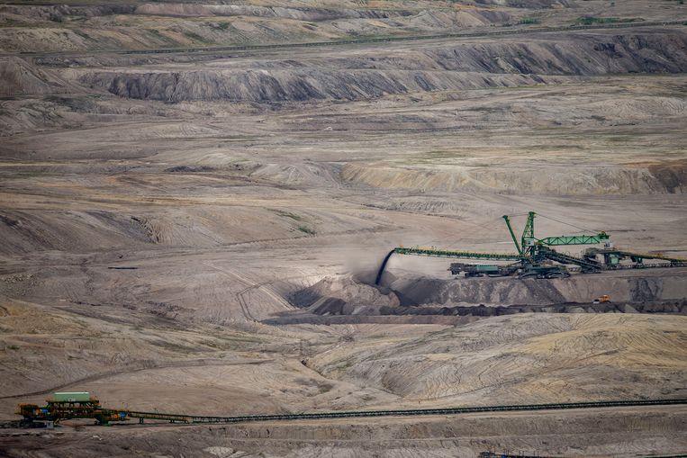 De bruinkoolmijn bij Turów ligt vlak bij de grens met Tsjechië.  Beeld Getty Images