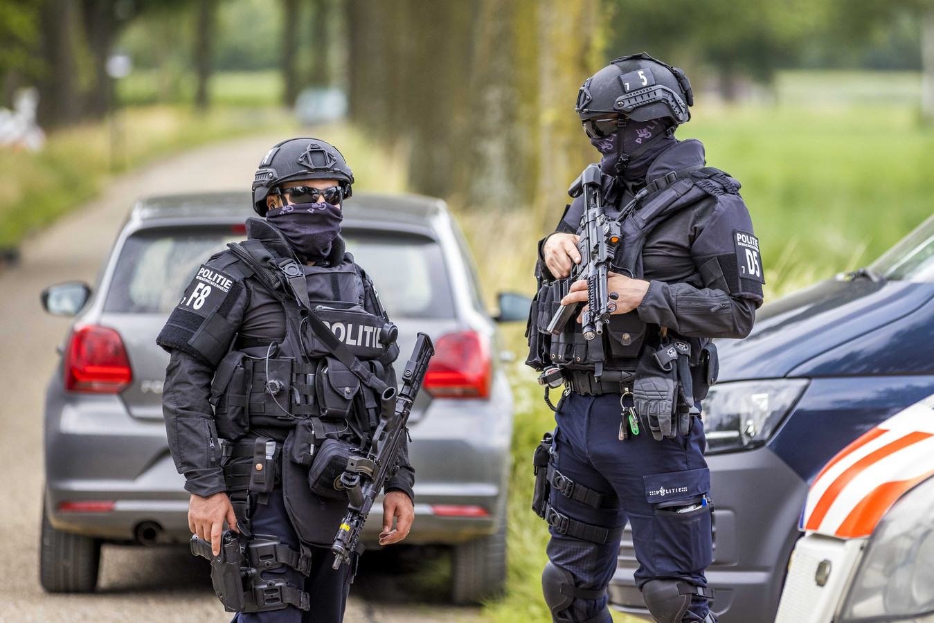 La police néerlandaise garde l'endroit découvert.
