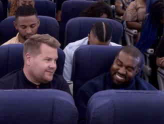 James Corden strikt Kanye West voor 'Airpool Karaoke'