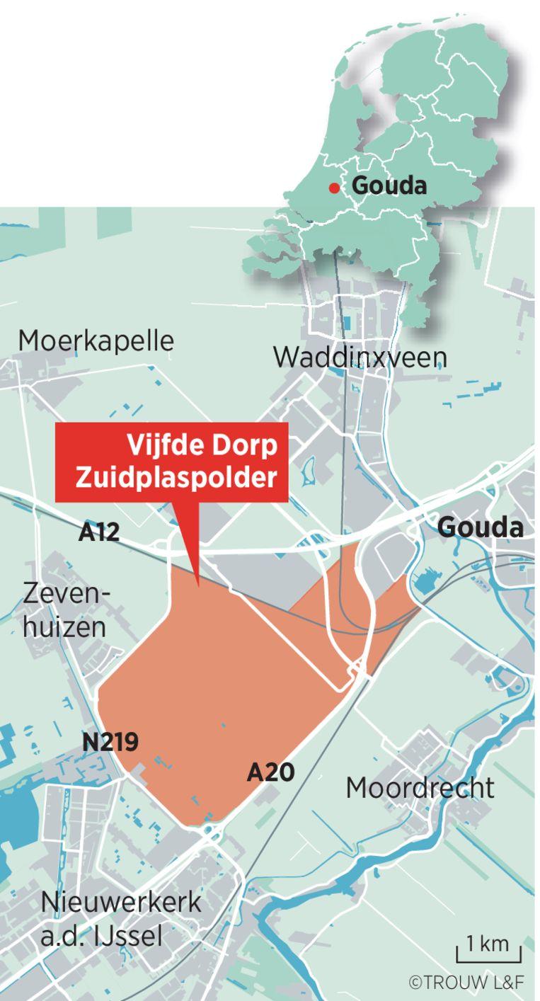 De locatie tussen Rotterdam en Gouda. Beeld Louman & Friso