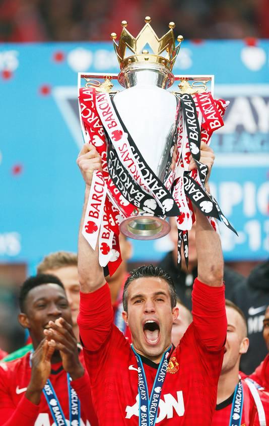 Robin van Persie wint met Manchester United de Premier League.