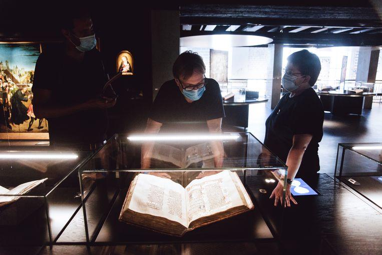 De schat in deze expo betreft de collectie handschriften van de Bourgondische hertogen, de Librije genaamd, een unieke verzameling manuscripten. Beeld Francis Vanhee