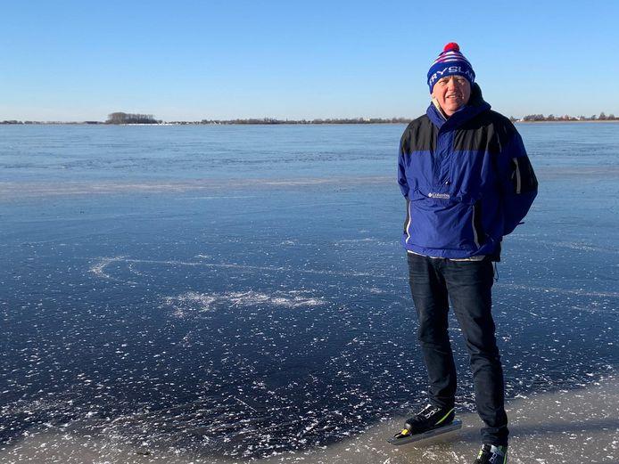 Erik Ekkel vandaag eindelijk zelf op het ijs van Friesland.