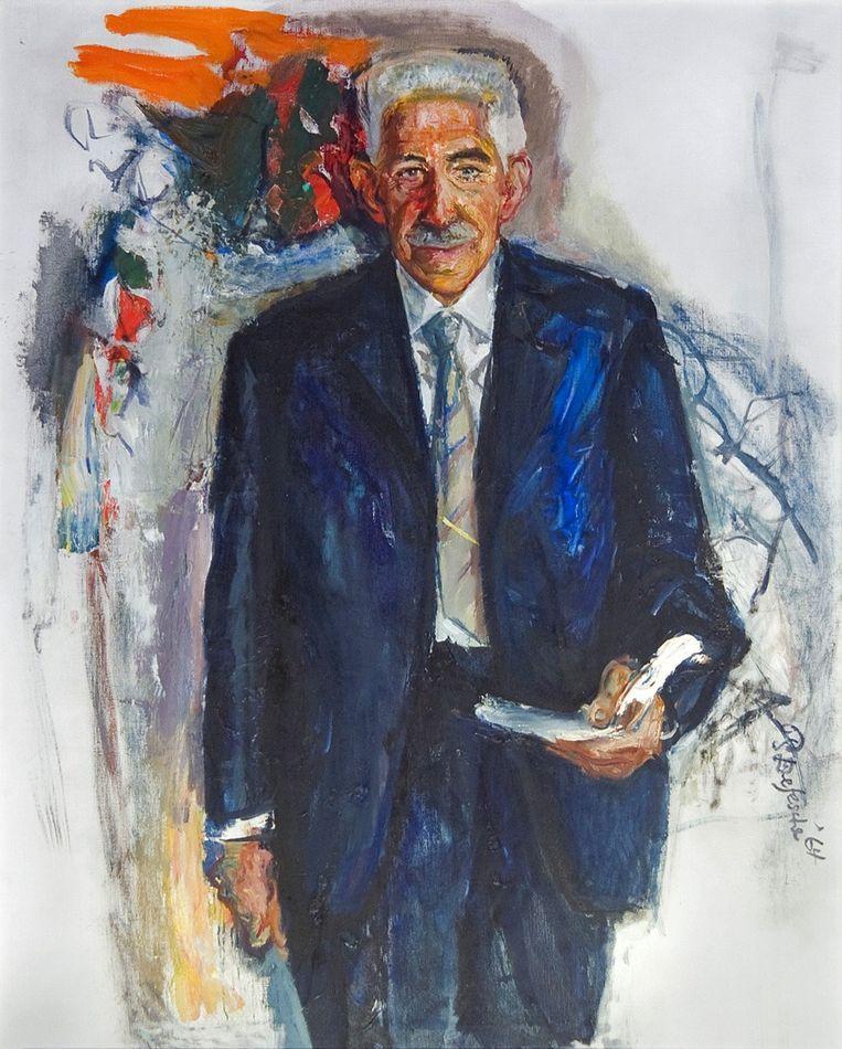 Portret hoogleraar Marcel Minnaert. Wij, van sterrenkunde, hadden hem dat in 1966 aangeboden. Een prachtig doek.' Beeld .