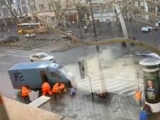 Ooggetuigen filmen overval op geldtransport met twee gewonden in hartje Berlijn