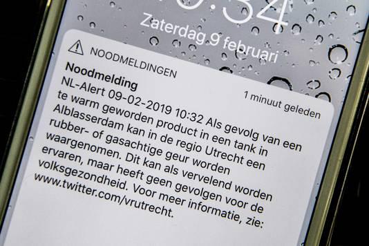 Er werd een NL Alert verstuurd om mensen te alarmeren. Het advies: bij overlast ramen en deuren dicht.