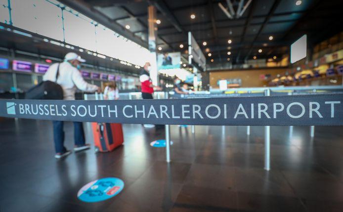 De luchthaven van Charleroi