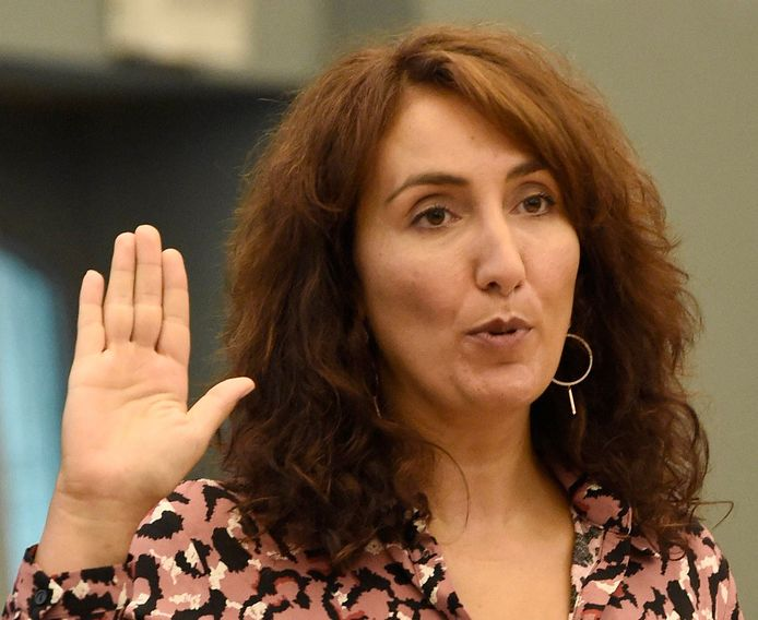 Christie Morreale, vice-Présidente et ministre de l'Emploi, de l'Action sociale, de la Santé et de l'Égalité des chances (PS).