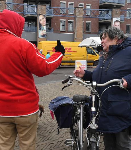 Alleen de VVD in Sint Anthonis blijft warm op ijzige campagnedag
