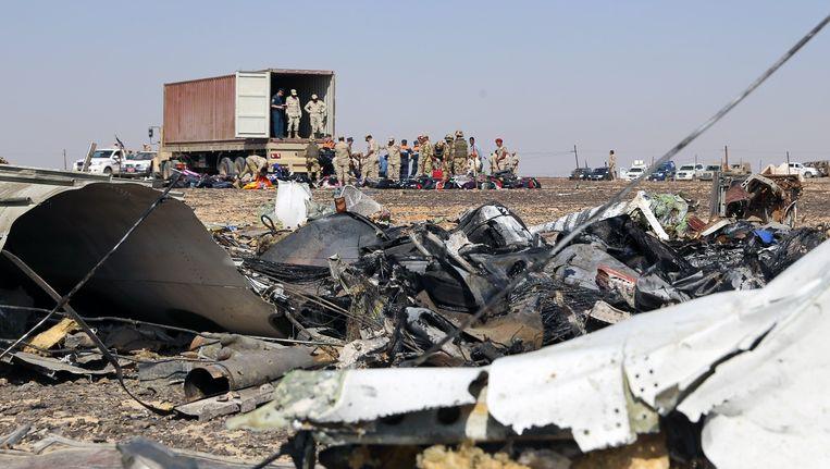 De crashsite in de Sinaïwoestijn. Beeld anp
