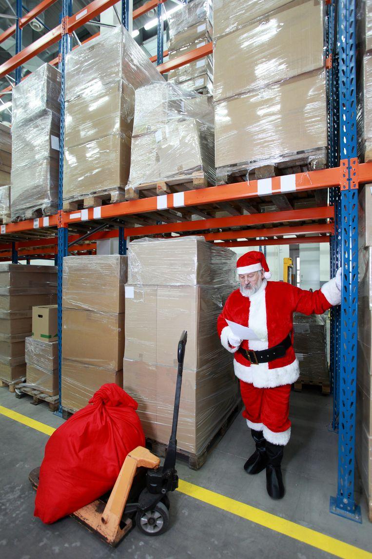 Door de logistieke problemen ziet het ernaar uit dat kerstmis een bescheiden feest wordt in het Verenigd Koninkrijk. Beeld Getty
