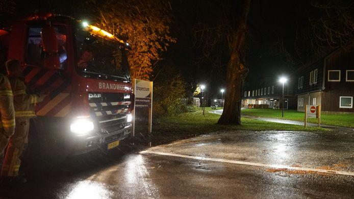 De brandweer bij een zorglocatie van Trajectum in Eefde.