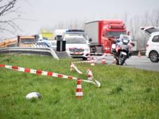 Motorrijder gewond bij ongeluk op A58