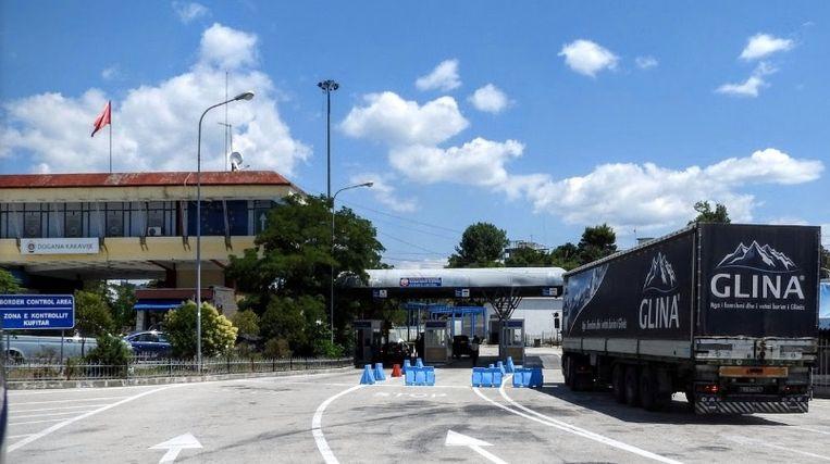 Aan deze grensovergang tussen Griekenland en Albanië werd de 32-jarige Albanese verdachte aangehouden.