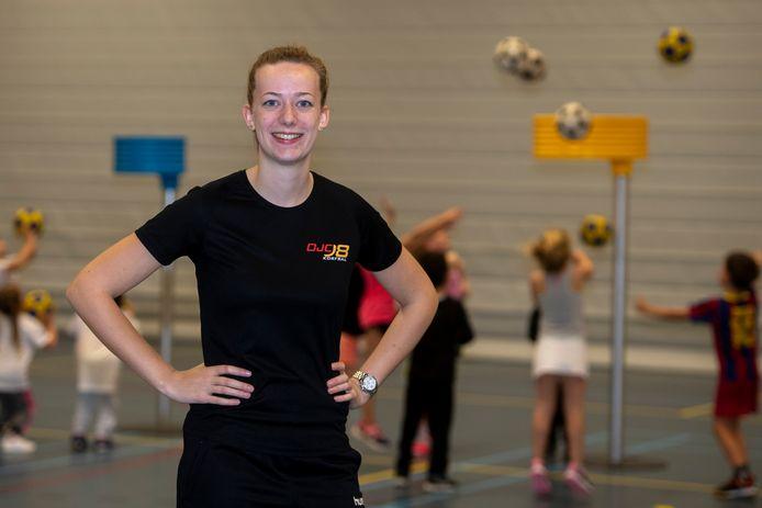Tessa van Breugel van korfbalvereniging OJC'98 uit Berkel-Enschot.