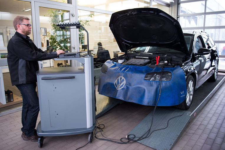 Volkswagen is een van de bedrijven die sjoemelde met emissiewaarden. Beeld EPA