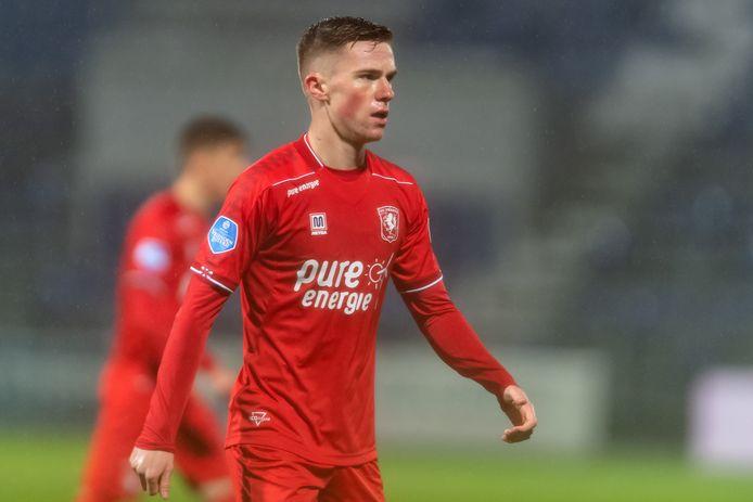 Daan Rots zorgde in de eerste helft voor het meeste gevaar bij FC Twente.